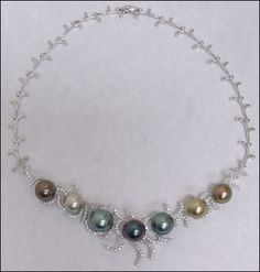 Beautiful Tahia Collins Tahitian Pearl Necklace