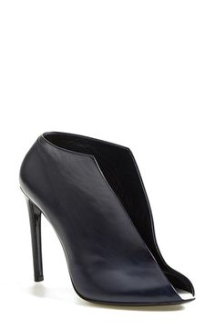 Balenciaga Leather Split Vamp Bootie (Women) available at #Nordstrom - REALLY feeling like I need these in my life. LOVING the navy.