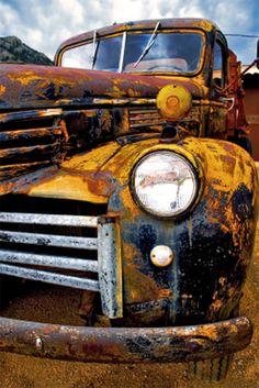 """Wall canvas """"Old Truck, Phoenix AZ"""""""