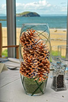 for a little rustic add some pine cones