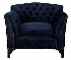 - Info - Features - Dimensions Enveloped in a rich, royal navy velvet, the Weatherford Club Chair adds luxurious style and comfort to any room. It's tufted fabric, hand-applied nailheads and broad arm