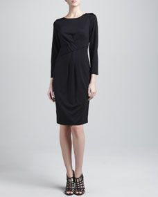 Armani Stretch Jersey Pleated Dress - $895