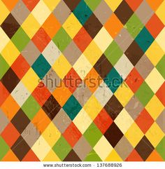 Colorful retro vector rhombus mosaic background
