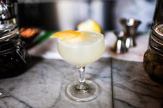 Summer Babe Recipe - Bon Appétit 2 ounces gin ¾ ounces Génépy des Alpes ¾ ounces fresh lemon juice Lemon twist (for serving)