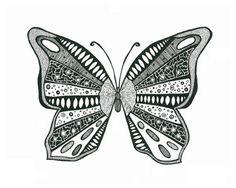 Zentangle butterfly inspiration