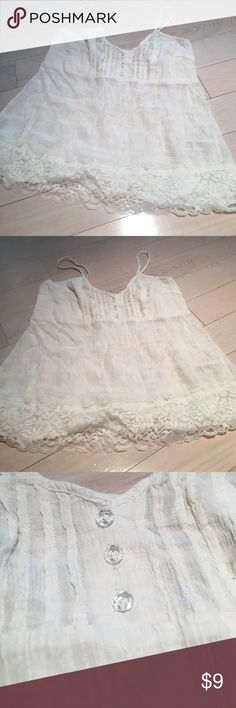 DKNY Crystal Lace Babydoll Tank Size S Has some minor pulls but you cant notice it much from the material DKNY Tops Tank Tops