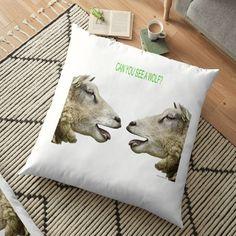 'Fun T Shirts - Sheep' Floor Pillow by Floor Pillows, Throw Pillows, Pillow Design, Cool T Shirts, Sheep, Classic T Shirts, Bedding, My Arts, Flooring