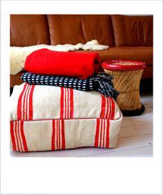 Original handmade Kelim/kilim Moroccan pouf / by janenjacob - can get at Gekaapt Bilderdijkstraat 131