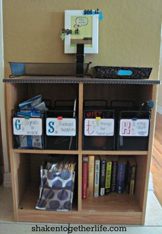 shaken together: {create this} DIY family organization station