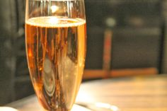 Champagne during afternoon tea at Flemings Mayfair in London