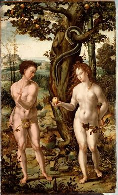 """Fall of man"" by Coecke van Aelst, Pieter c.1520-30"