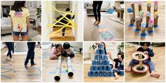 Keep the kids having fun and engaged with these 50 Easy Indoor Activities for Kids using simple household items and recycled materials. Indoor Activities For Kids, Indoor Games, Summer Activities, Learning Activities, Toddler Activities, Fun Games For Kids, Fun Crafts For Kids, Craft Stick Crafts, Pistola Nerf