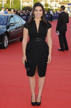 America Ferrera Clothes this seems like the perfect lbd for me I love how the collar is mirrored in the hem