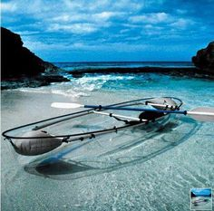 Transparent boat. Good idea indeed, can enjoy the world below better.