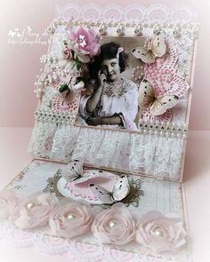 Plony de Jong (@plony1958) • Instagram photos and videos Exploding Boxes, Easel Cards, Vintage Shabby Chic, Vintage Cards, Decorative Boxes, Vintage Fashion, Girly, Paper Crafts, Photo And Video