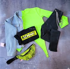 Neon Outfits, Tumblr Outfits, Teen Fashion Outfits, Edgy Outfits, Cute Summer Outfits, Cute Fashion, Outfits For Teens, Fall Outfits, Cute Outfits