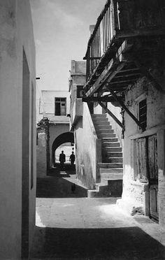 Naxos town, Naxos Island, Greece, about 1950.