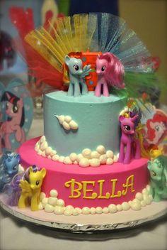 "My Little Pony / Birthday ""Bella's Big Bash"" My Little Pony Cake, My Little Pony Birthday Party, 5th Birthday Party Ideas, Birthday Fun, My Little Pony Decorations, Cake Decorations, Mlp Cake, Disney Princess Birthday Cakes, Princess Party"