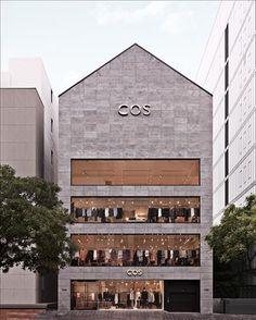 Cos stores cheongdam, seoul 空 间 retail architecture, retail Design Garage, Design Exterior, Facade Design, Shop Interior Design, Retail Design, Store Design, House Design, Retail Architecture, Sustainable Architecture