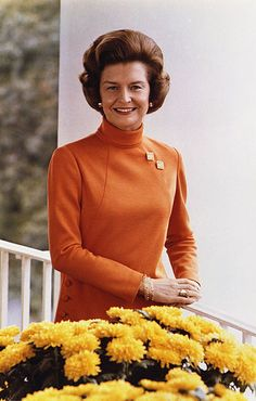 Betty Ford.  I liked how outspoken she was on social issues - equal rights, women's rights, abortion, equal pay & her own alcohol and drug issues.  She  definitely was not a mouse.