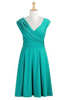 Draped front cotton knit dress  $64.95 from www.eshakti.com