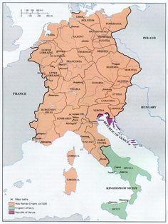 Carte du St Empire Romain Germanique incluant la Franche-Comté dans le Royaume Bourgogne-Arles vers 1200. Arles en était la capitale.
