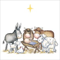 Nativity Animals Christmas Cards (pack of from Phoenix Trading. Supporting Together for Short Lives, Cancer Research UK & Macmillan Charity Christmas Cards, Religious Christmas Cards, Beautiful Christmas Cards, Diy Christmas Cards, Christmas 2014, Christmas Images, Christmas Goodies, Merry Christmas, Xmas