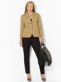 Stretch-Cotton Blazer - Jackets  Women - RalphLauren.com