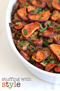 Holiday Stuffing with Sweet Potatoes