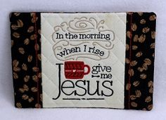 In The Morn Mug Rug - 5x7 | What's New | Machine Embroidery Designs | SWAKembroidery.com Oma's Place