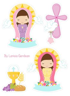 Mexican Babies, Garden Mural, Baby Images, First Holy Communion, Catholic Saints, Felt Toys, Kids Fashion, Religion, Clip Art