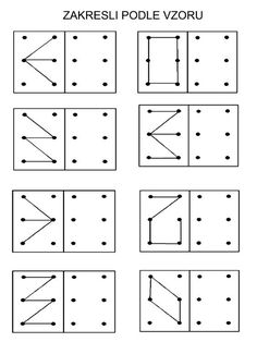 punkte verbinden - muster übertragen - visuomotorik Übungen für die vorschule | vorschule