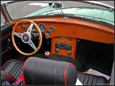 Not with the red piping, but maybe the dash and wheel? MGB