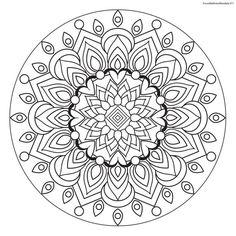 Focus Wellness Mandala No. 11 for coloring