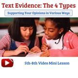 Text Evidence - Reading Response Video Lesson