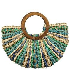 Naturalizer - Blue Multi Straw Bag  I'm usually not a fan of the straw bag, but this one is different. Love love