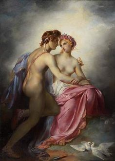 Venus And Adonis by Pierre-Narcisse Guerin