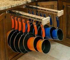 Glideware Sliding Pot Holder home storage organization organization ideas storage ideas diy organization ideas pot holders home storage ideas organization ... & Kitchen and Bath Problem-Solvers and Cool Finds | Pinterest | Easy ...