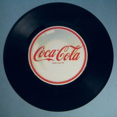 "Retro Coca-Cola/ Coke Vinyl 45"" Record Mixed Media Wall Decor/ Wall Hanging. $5.00, via Etsy."