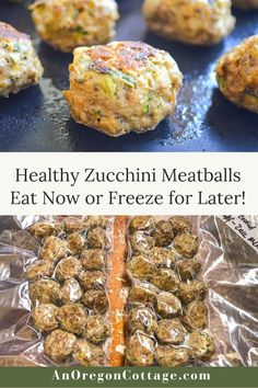 Got zucchini? Make it into freezer meatballs with this easy recipe for freezer zucchini meatballs with your choice of ground turkey, beef, or chicken. Our family loves them for quick appetizers with marinara or for any recipes calling for frozen meatballs. Use this as a convenient way to preserve zucchini when it's in season! Cherry Tomato Sauce, Roasted Tomato Sauce, Zucchini Bread Recipes, Healthy Zucchini, Quick Weeknight Meals, Easy Meals, Quick Healthy Snacks, Healthy Eating, Zucchini Meatballs