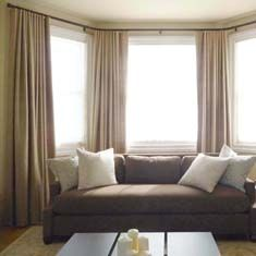 Curtains for Bay Windows | Curtain Rods, Drapery Rods, Curtain Hardware – Country Curtains®