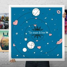 "9 Me gusta, 1 comentarios - Claudia Sabogal G. (@cgrafica) en Instagram: ""by CLAUDIA SABOGAL via @Curioos #roomdecor  #universe #homedecor #deco #interiordesign #artprint…"""