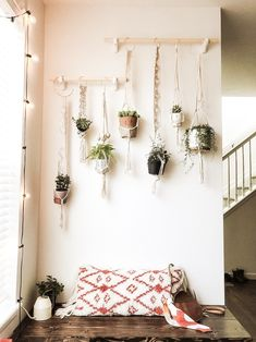 DIY Macrame Plant Wall A garden is far more than an outdoor area with flower . - DIY Macrame Plant Wall A garden is far more than an outdoor area with flower beds, lawns and Pat - Plant Wall Diy, Plant Decor, Hanging Plant Wall, House Plants Decor, Hang Plants On Wall, Living Room Plants Decor, Hanging Flower Wall, Diy Plant Stand, Diy Hanging