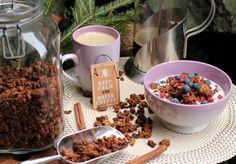 Sunn og god granola med banan, havre og nøtter!