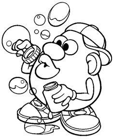 Mr. Potato Head coloring page
