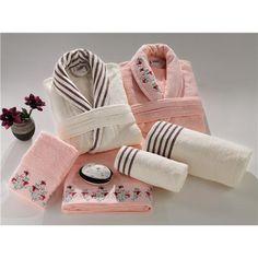 Bornoz Takımı ve ev tekstili Melis 6 PARÇA BORNOZ SETİ 2 ADET BORNOZ,2 ADET 50X100,2 ADET 100X150 HAVLU ,