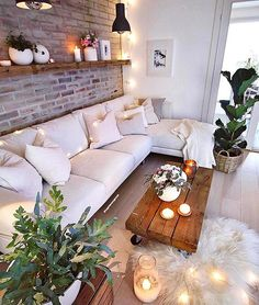 Here are some doable living room decor and interior design tips that will make your home cozy and comfortable for family and friends. Living Room Decor Cozy, Home Living Room, Apartment Living, Living Room Designs, Bedroom Decor, Dream Rooms, Cozy House, Home Interior Design, House Design