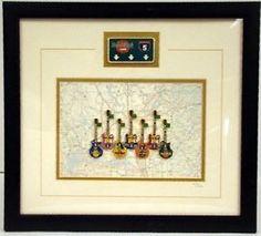 Hard Rock Cafe California 1999 Interstate 5 Framed 7 Guitar Pins COA 1405 I 5 | eBay