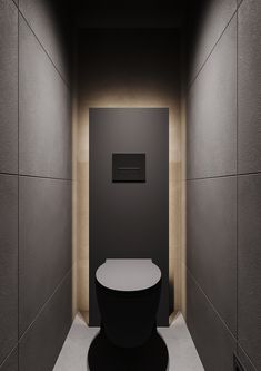 How To Use Lighting And Textures To Add Interest To Dark Interiors Black Square Coffee Table, Stone Feature Wall, Dining Pendant, Toilette Design, Small Toilet Room, Wood Slat Wall, Dark Interiors, Bathroom Interior Design, Interiores Design