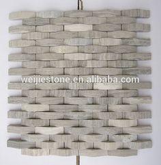 Natural Stone Mosaic Tile Backsplash 3d Design Marble Mosaic Tile - Buy Mosaic Tile Backsplash 3d Design,3d Wall Mosaic Tile,Gray White Marble Mosaic Tiles Product on Alibaba.com